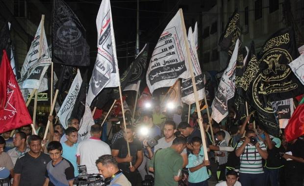 بمشاركة المجاهدين القوى الوطنية والإسلامية تنظم مسيرة نصرة للقدس والضفة